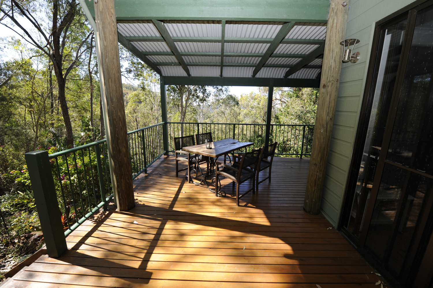 Private and secluded Verandah
