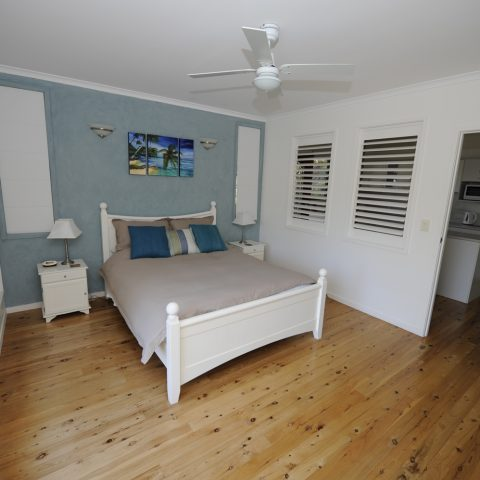 Queen size bed and full sized bedroom
